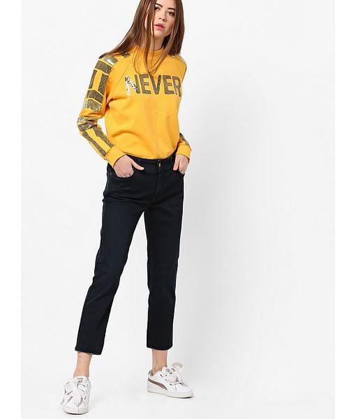 Women's medium wash slim fit Britty up jeans