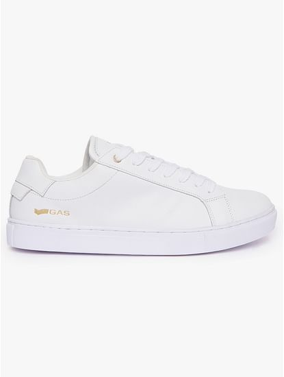 Panelled Leather Lace-Up Casual Shoes