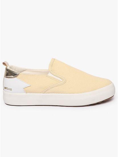 Women's slip on beige Bella denim shoes