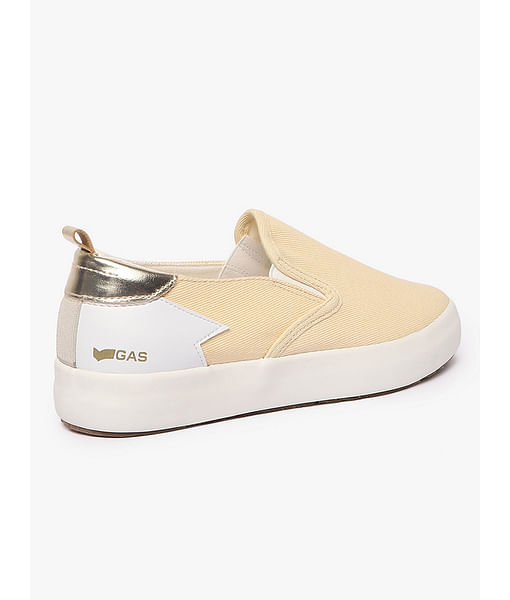Women's slip on beige Bella denim shoes