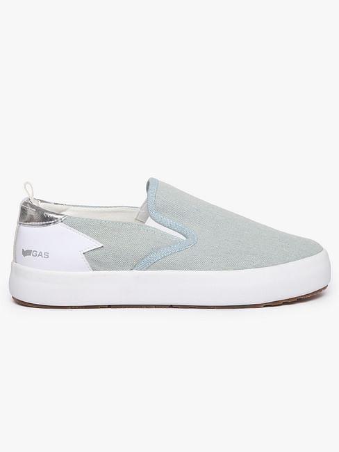 Women's slip on light blue Bella denim shoes