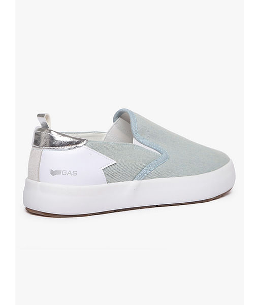 Women's slip on light blue Bella denim shoes