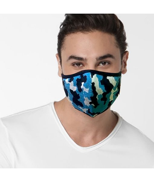 GAS Camouflage printed blue Mask