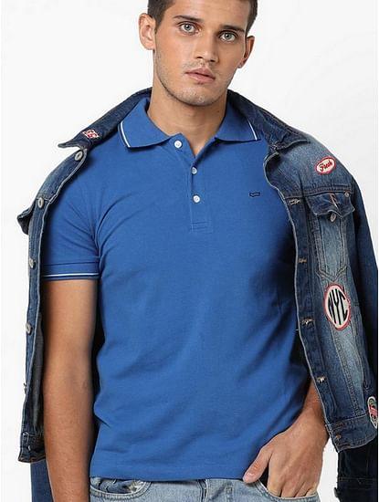 Men's Ralph/s 3 solid blue polo t-shirt