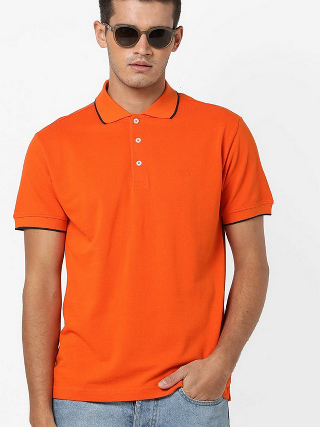 Men's Ralph/r solid orange polo t-shirt