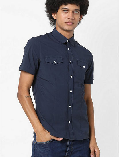 Men's Mohito solid blue shirt