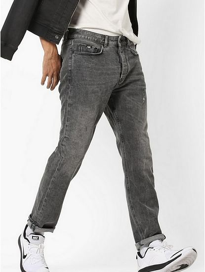Men's Teo Carrot Fit Grey Jeans