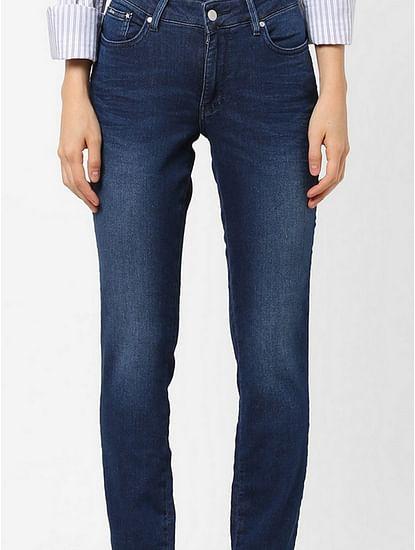 Women's medium wash slim fit Britty up motion jeans