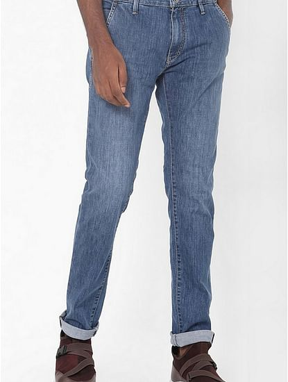 Men's Albert Chino Slim Fit Blue Jeans