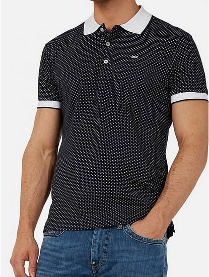 Men's Ralph/s star printed blue polo shirt