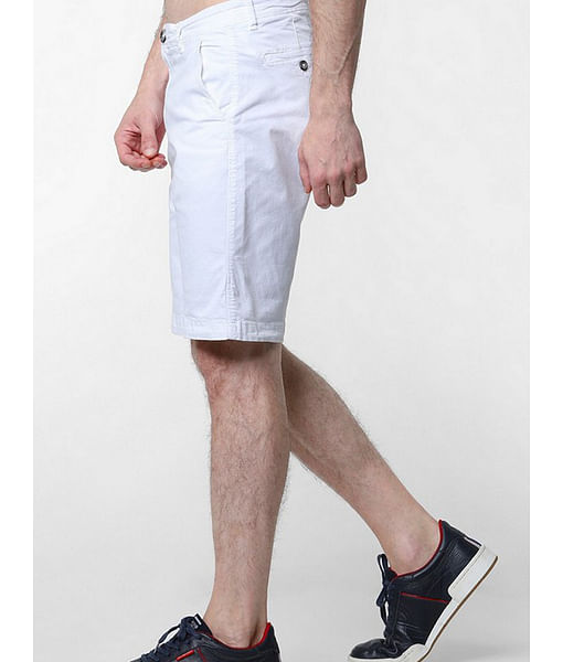 Men's Grimm solid white shorts