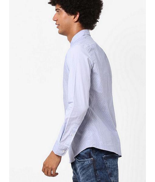 Men's Andrew mix printed blue shirt
