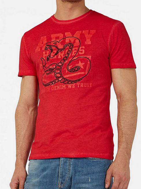 Graphic Print Crew-Neck T-shirt