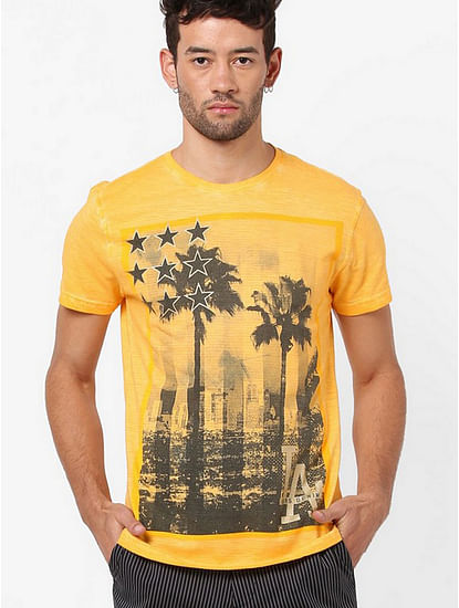 Sagar Graphic Print Slim Fit T-shirt