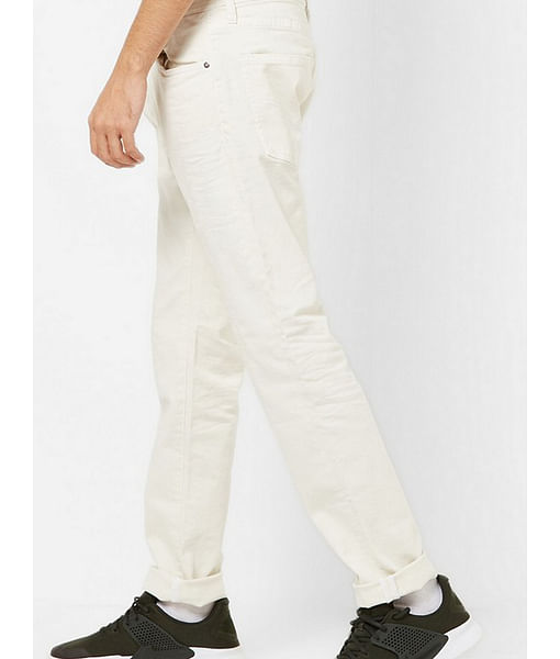 Men's Norton Carrot Fit Off-white Jeans