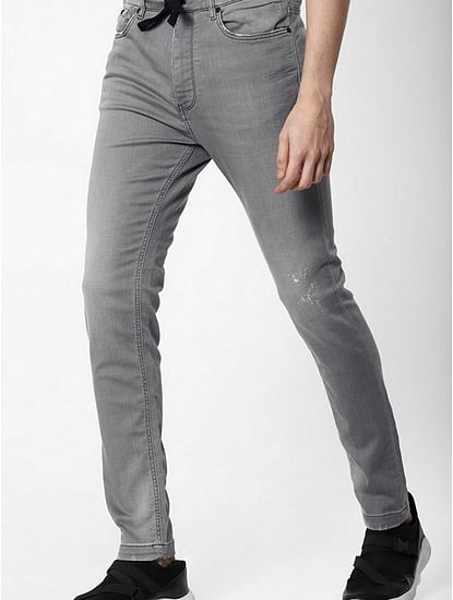 Men's Slow Motion Carrot Fit Grey Jeans