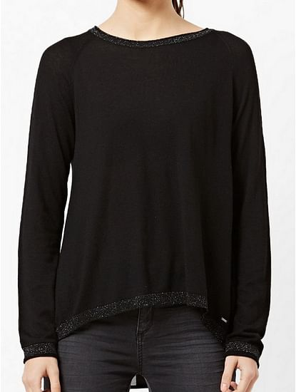 Women's regular fit round neck long sleeve Desyre top