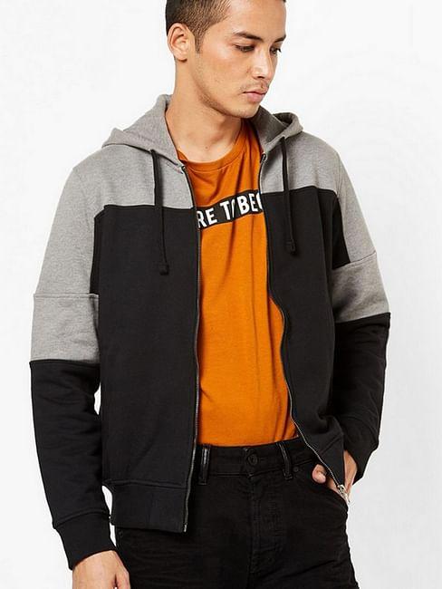 Men's Spree solid grey round neck sweatshirt