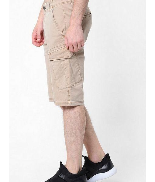 Men's Noal solid beige shorts