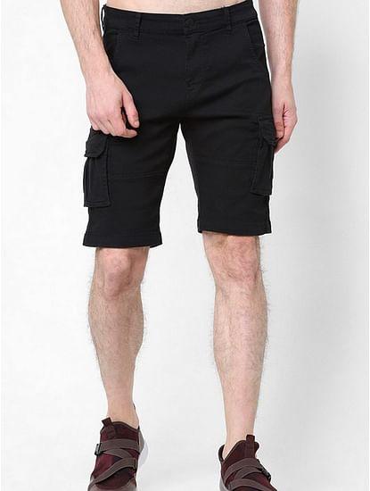 Men's Bob Gym solid black shorts