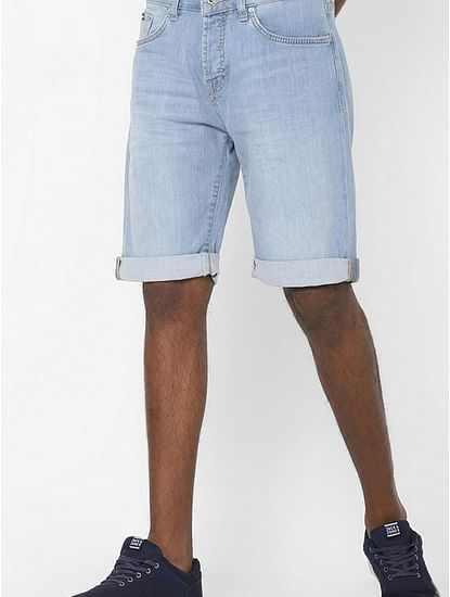 Men's Norton carrot blue denim shorts