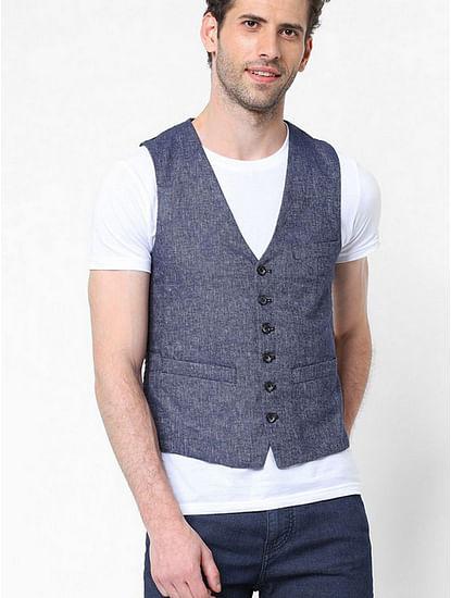 Textured Waistcoats with Welt Pockets