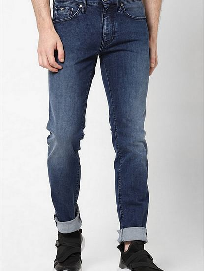 Men's Morris Taylor Straight Fit Blue Jeans