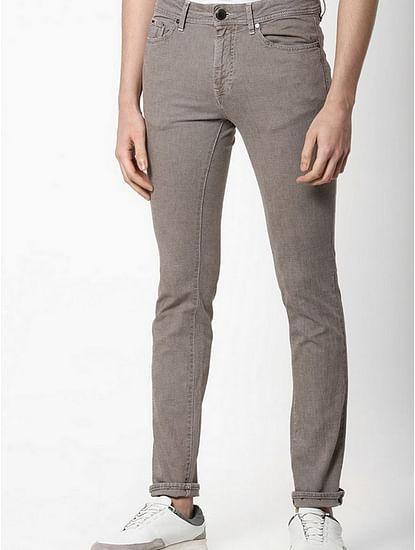 Men's Albert Simple Slim Fit Grey Jeans