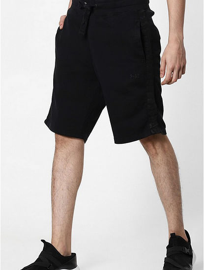 Men's Whoopie solid black shorts