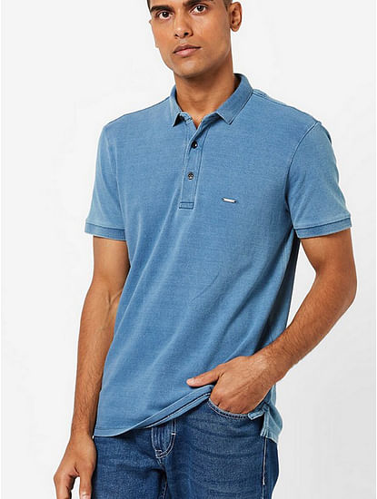 Men's Ralph printed blue polo t-shirt