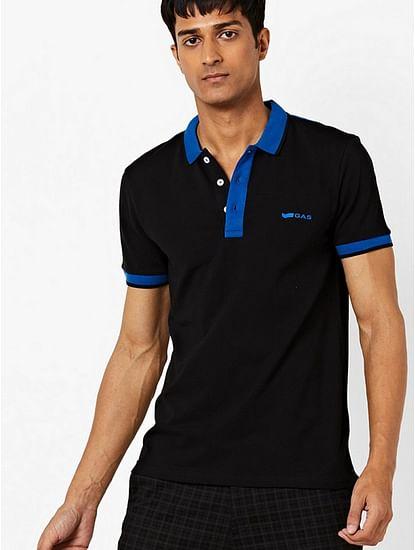 Men's Ralph solid black polo t-shirt