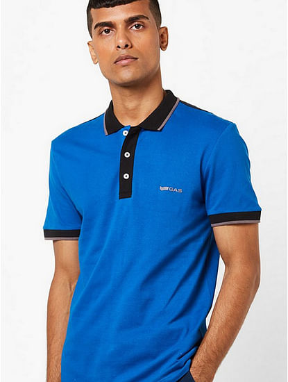 Men's Ralph solid blue polo t-shirt