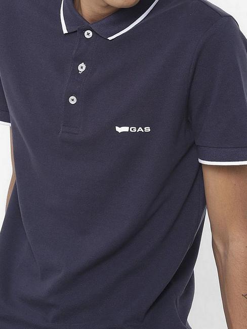 Men's Ralph solid blue polo t-shirt