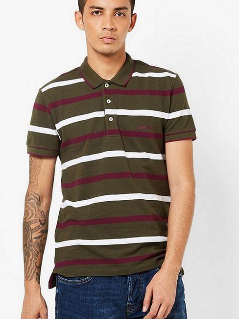 Men's Ralph green stripes polo t-shirt