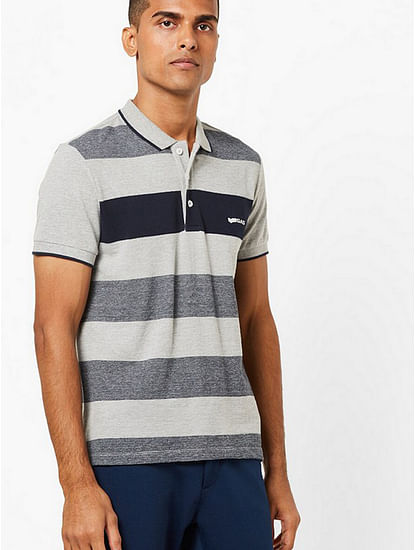 Men's Ralph grey stripes polo t-shirt