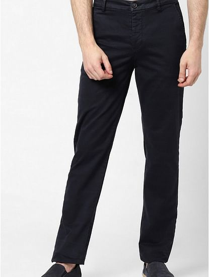 Slim Fit Flat-Front Trousers