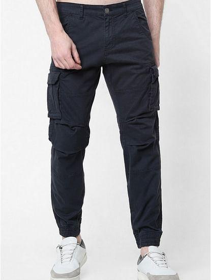 Men's Bob Gym Skinny Fit Black Cargo Pants