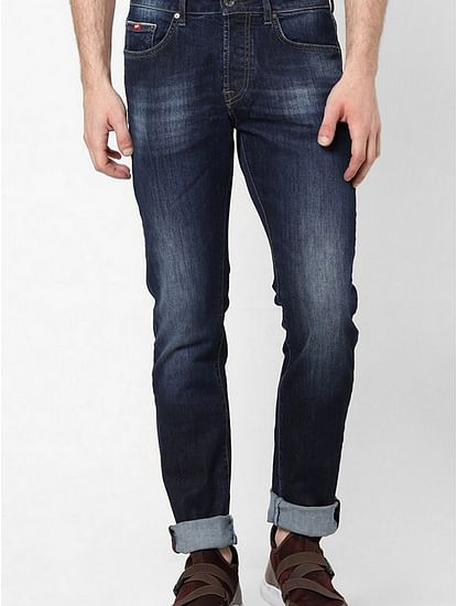 Men's Norton Carrot Fit Dark Blue Jeans