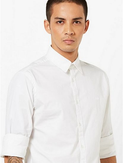 Men's Andrew solid white shirt