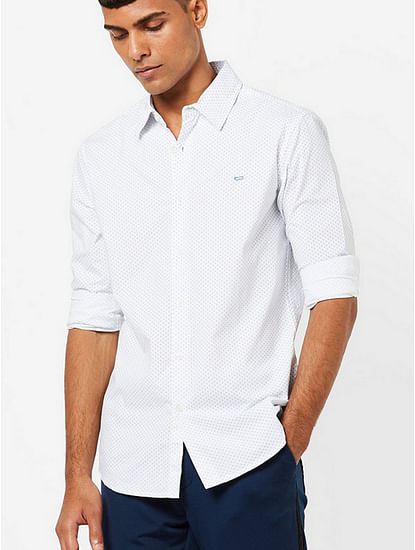 Men's Sir Det printed white shirt