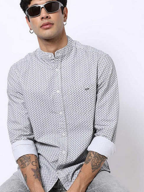 Men's Dyami S printed white shirt