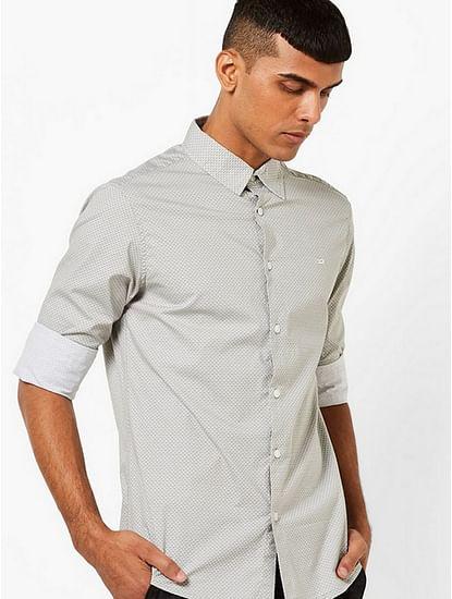 Men's Sir Det all over printed grey shirt