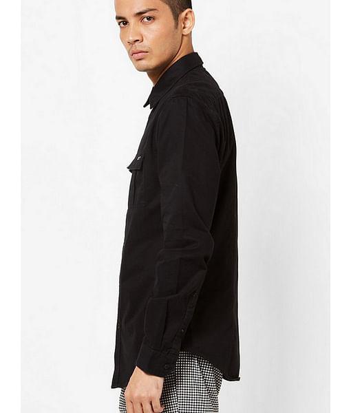 Men's Abner solid black shirt
