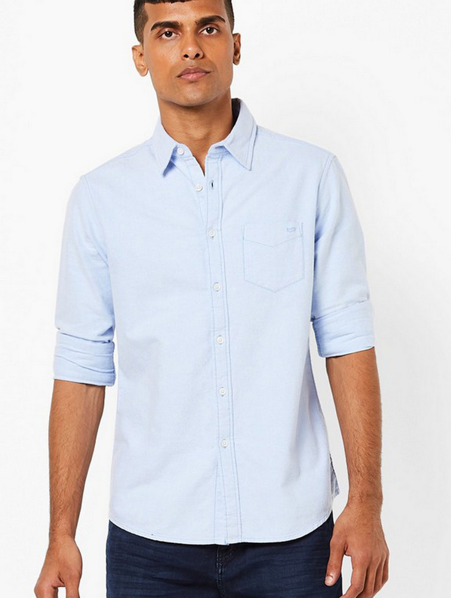 Men's Flix C/8 solid light blue shirt