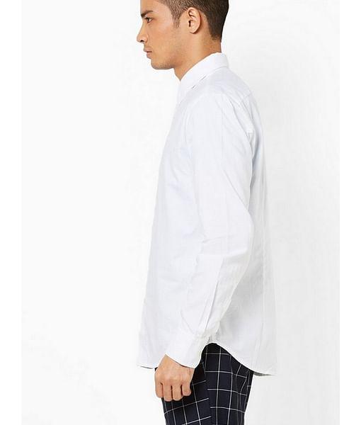 Men's Sir Det solid oxford white shirt