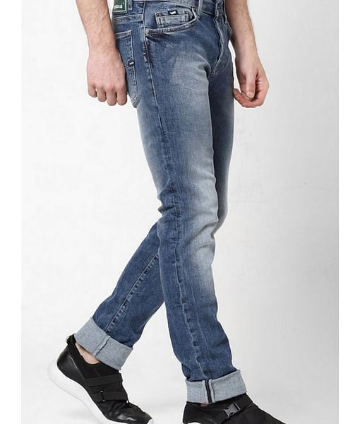 Men's Anders Slim Fit Mid blue Jeans