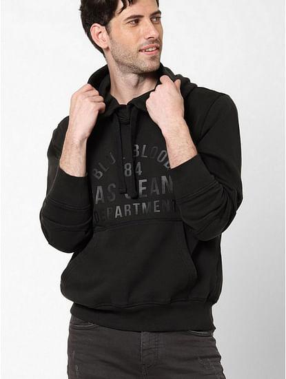 Men's Niek black hooded sweatshirt