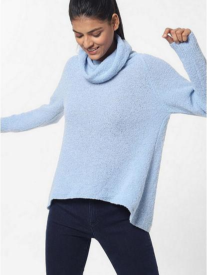 Women's regular fit high neck full sleeves Jonys collar top
