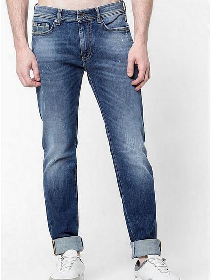 Men's Albert S.Check Slim Fit Mid blue Jeans