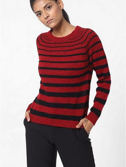 Women's slim fit round neck full sleeves Karamel top